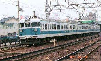 和歌山市駅から出発する113系阪和色
